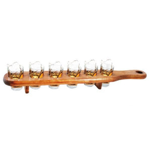 Shotglass holder i tre