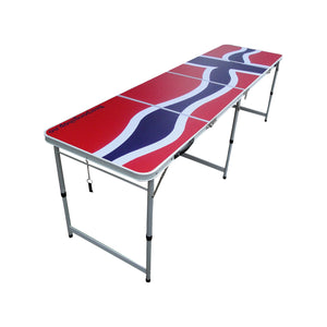 Beer Pong Bord - Norsk Flagg