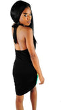 Rasta front drape mini dress RLW1631