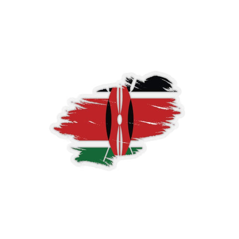 Kenyan flag Kiss-Cut Stickers RLW2463