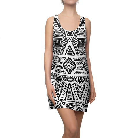 African print Racerback Dress RLW1880