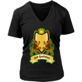 Jah Rastafari Women's V-Neck T-Shirt RLW1469