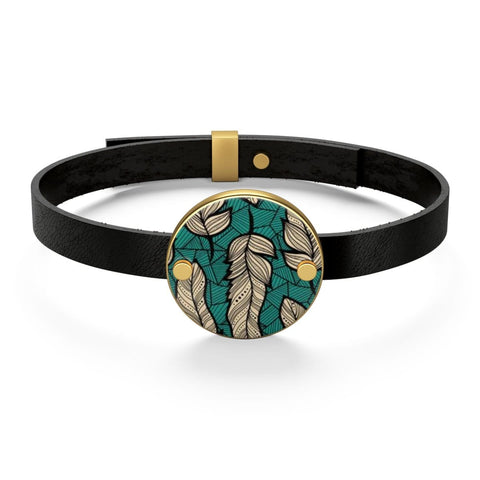 African print Leather Bracelet RLW2236