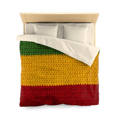 Rasta colours Microfiber Queen Duvet Cover RLW2445