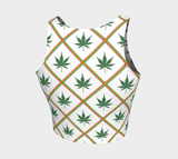 Weed 420 arthletic crop top RLW2701