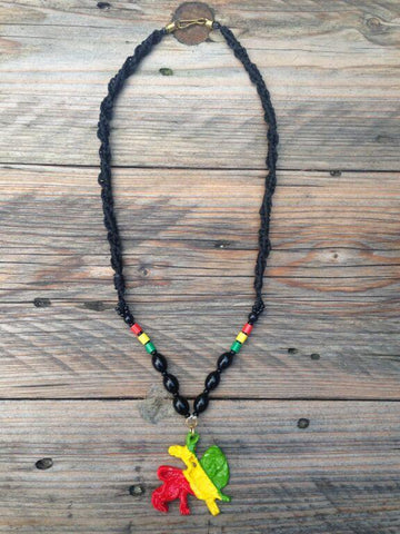 Lion of judah Rastafarian necklace RLW410