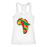 African map Lion ladies T-back RLW1196