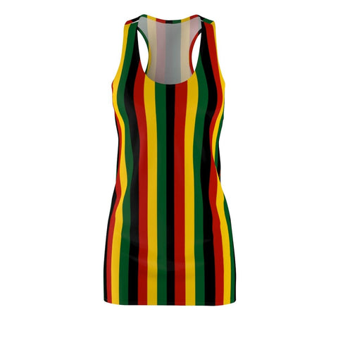Rasta/reggae stripped Racerback Dress RLW1831