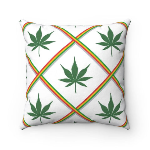 Ganja Spun Polyester Square Pillow RLW2322