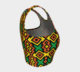 African Kante print athletic crop top RLW2709