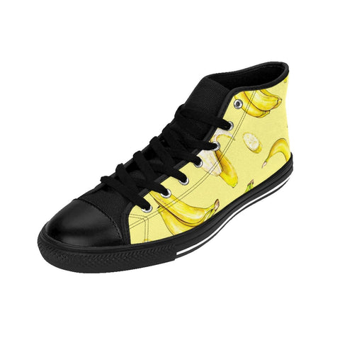 Itals banana print Women's High-top Sneakers RLW2048