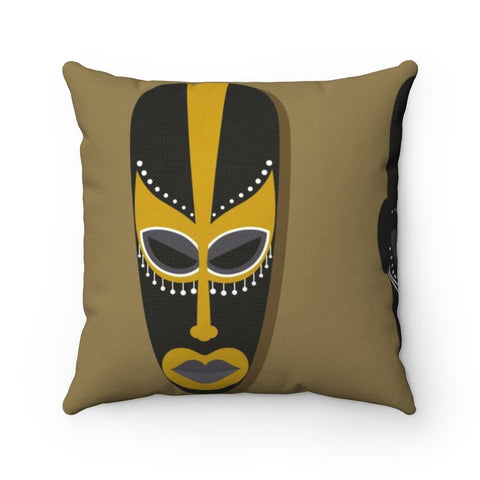 African face Spun Polyester Square Pillow RLW2327