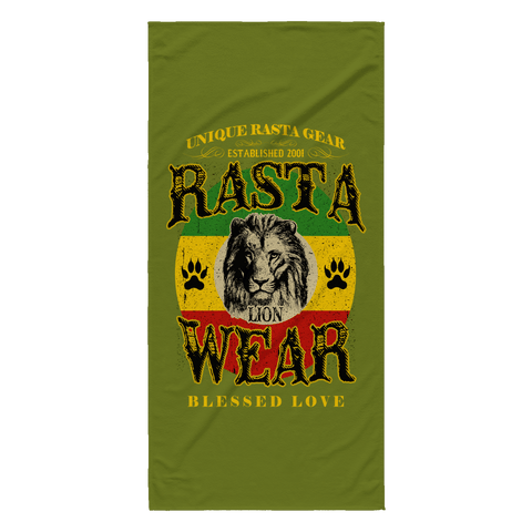 Rasta Lion Wear Original Beach Towel RLW41