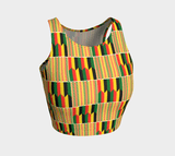 African print athletic crop top RLW2707