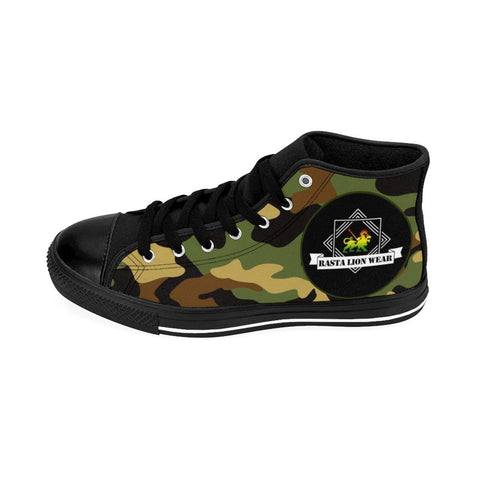 Rasta lion wear Army Men's High-top Sneakers RLW2353
