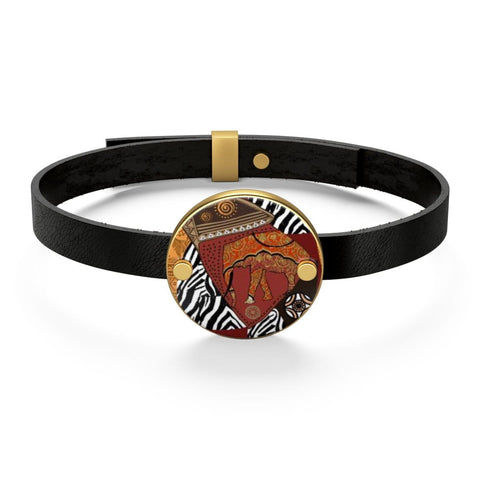 African print Leather Bracelet RLW2237