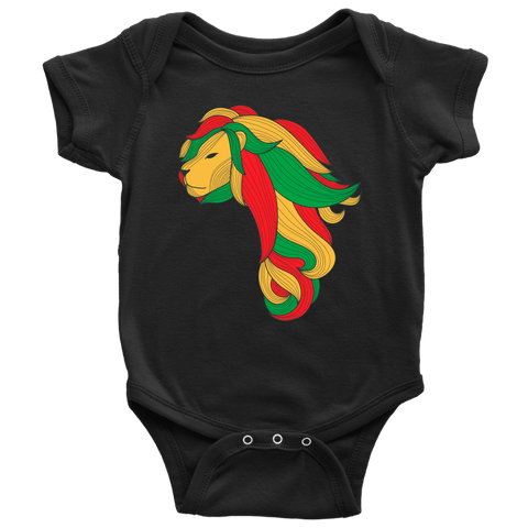 African Map Lion Baby Bodysuit RLW1007