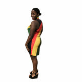 Rastafarian mini Racerback Dress RLW1833