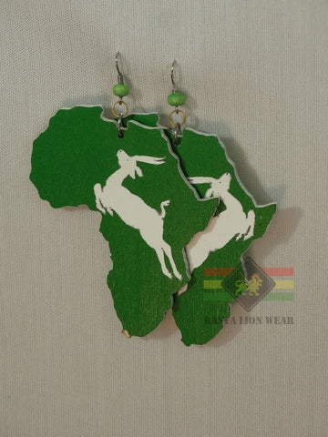 African map Earrings RLW297