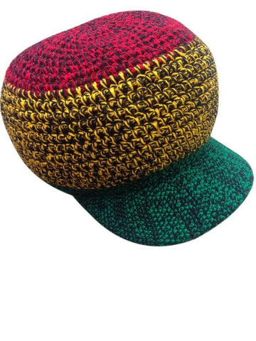 wicked Rastafarian hand crocheted hat RLW256