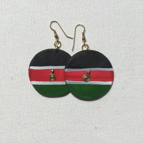 Kenyan flag Earrings RLW7