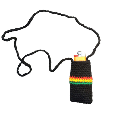 Rasta hand crotched Lighter holder  RLW206