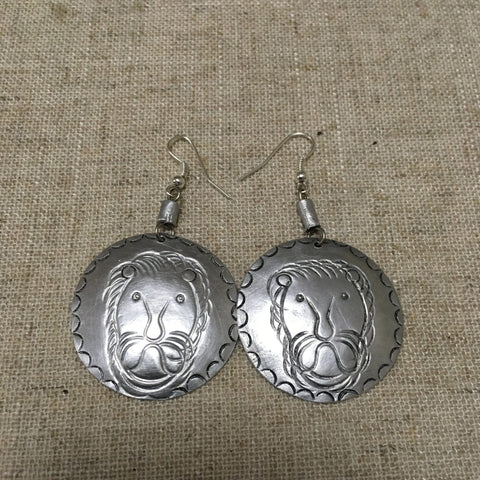 Lion Aluminium cool Earrings RLW98