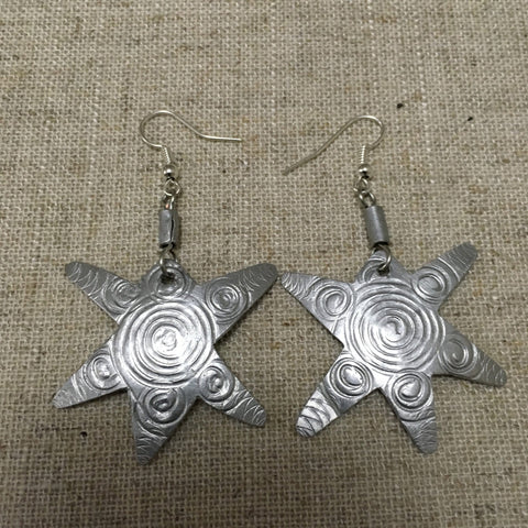 Cool Aluminium star earrings RLW32