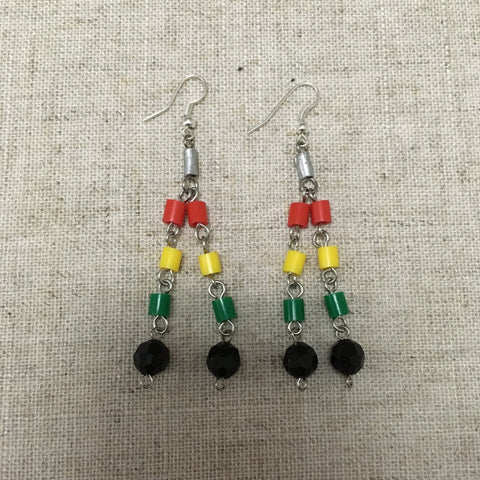 cool Rastafarian l n I earrings RLW99