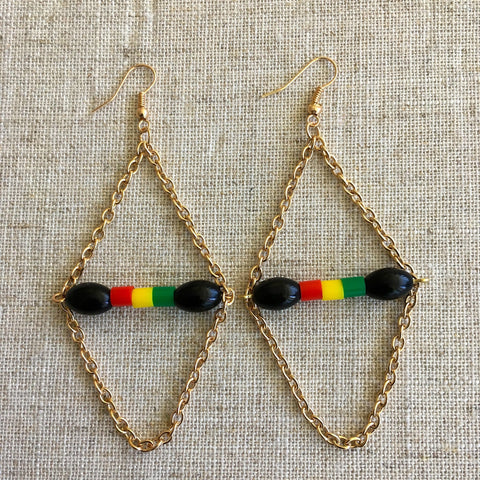 Gorgeous Rastafarian earrings RLW678