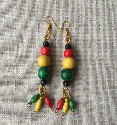 African/rasta Earrings RLW455