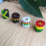 4 mixed Rastafarian/jamaican/reggae Dreadlocks BEAD 8mm HOLE HAIR BEADS RLW318