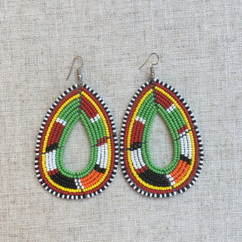 Maasai beads cool earrings RLW360