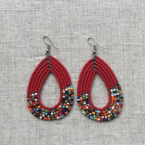 African Maasai beads Earrings RLW704