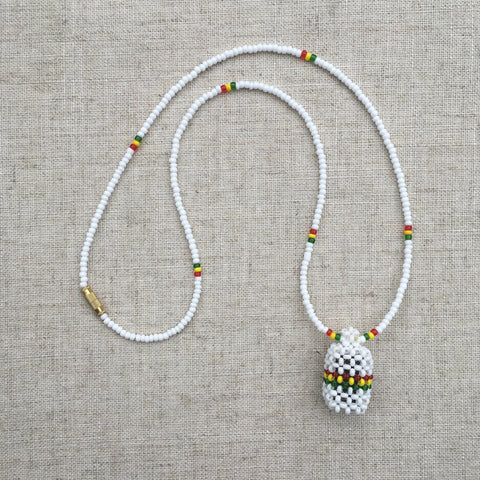Rasta  Weaved Pendant Necklace RLW179