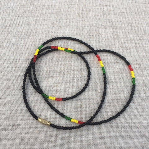 2 pcs of Jamaican or Rastafarian waist beads RLW824