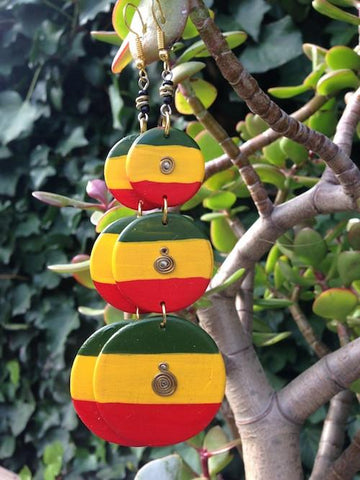 Long irie sistren earrings RLW392