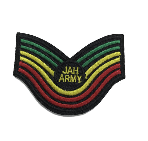 Jah Army Rasta  Embroidered IRON ON Patch RLW1530