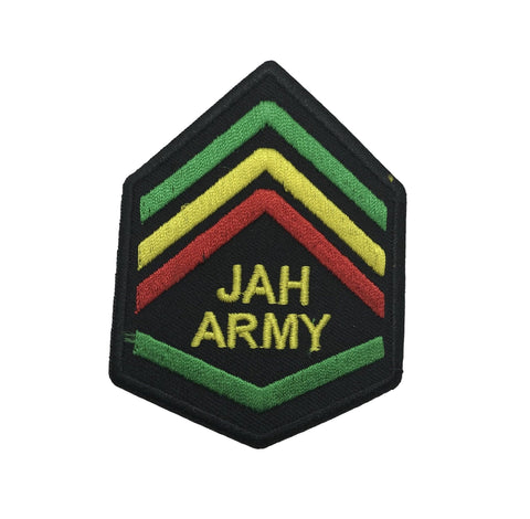 Jah Army Rasta Reggae Embroidered Iron On Patch RLW2363