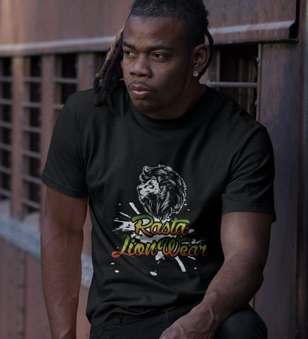 Rasta lion wear cool original Mens T-shirt RLW790