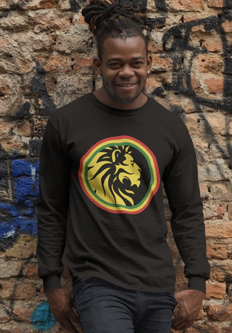 Lion of Judah Long Sleeved Men's T-Shirt RLW490