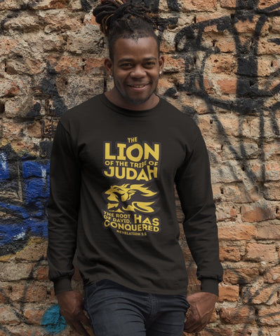 Lion of Judah Men's Long Sleeved T-Shirt RLW952