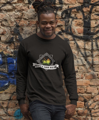 Original Rasta Lion Wear Long Sleeved Men's T-Shirt RLW584