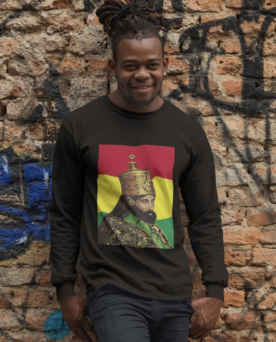 Haile Selassie Men's Long sleeved T-shirt RLW237