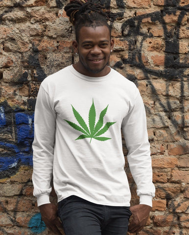 Herb Leaf Long Sleeved Men's T-Shirt RLW420