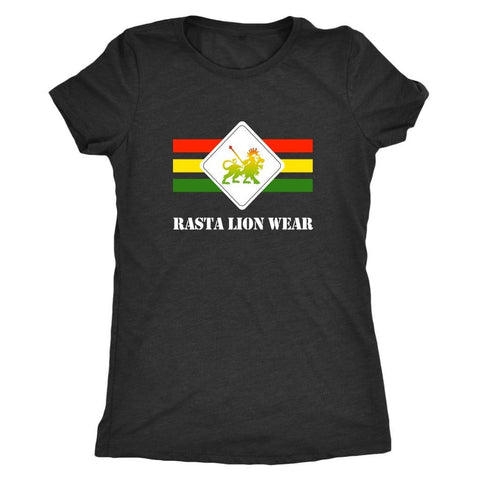 Rasta lion wear Original logo Ladies t-shirt RLW499
