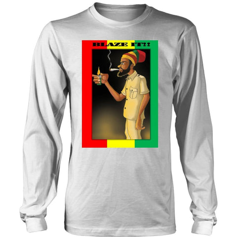 Blaze it Rastafarian men's long sleeved T-shirt RLW669