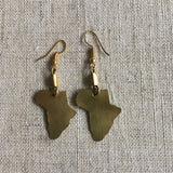 Cool African map earrings RLW730