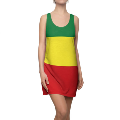 Women's Cut & Sew Racerback Rasta Dress RLW1782