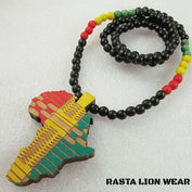 Africa Map Rasta Rastafari Necklace/ Pendant RLW2106